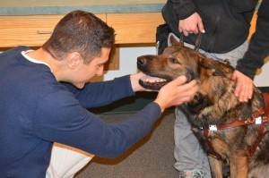 Dr. Shagensky of West Hartford, checked out Tonka at Fidelco in Bloomfield.