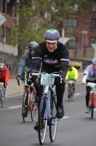 Dr. Shagensky rides hard in the rain to support TEAM ASPCA.